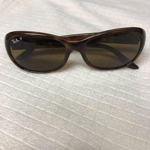 Ray Ban polarized Havana sunglasses